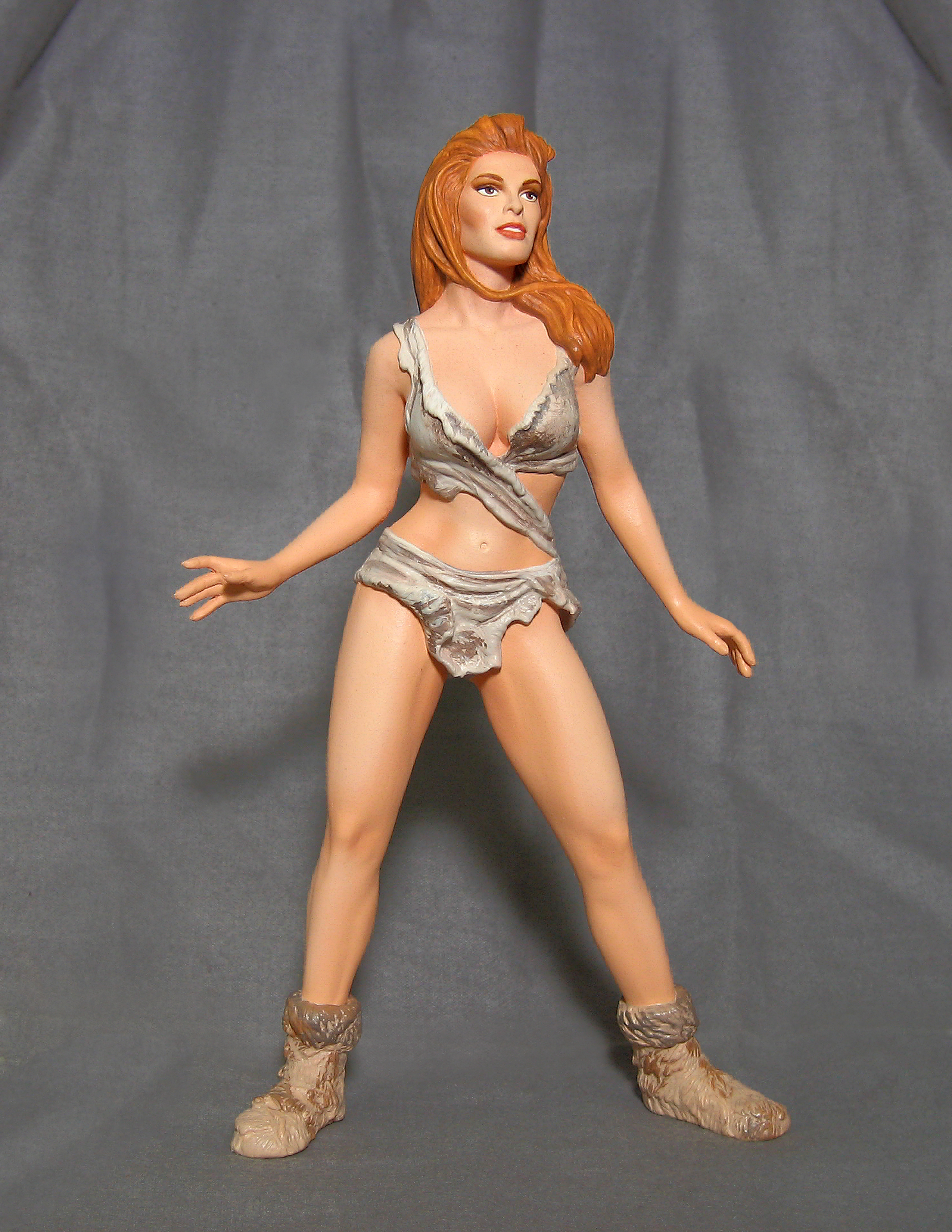 Raquel Welch in her fur bikini - snap together model kit - never produced