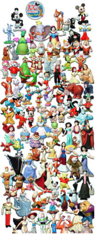 100 Figures for McDonalds Happy Meal Disney tribute