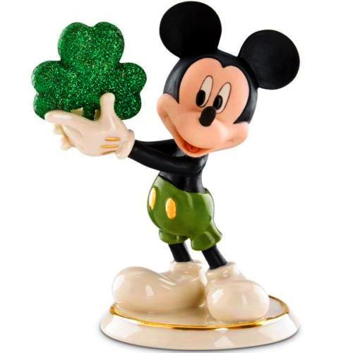 Shamrock Mickey Lenox St. Patricks day figure