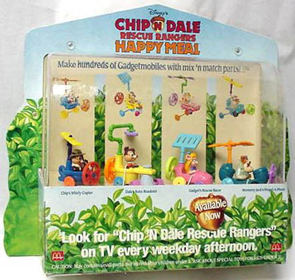 Rescue Rangers Happy Meal program in store display