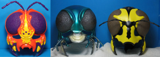 Insect Lore Bugmasks, redbug, tiger beetle and hornet