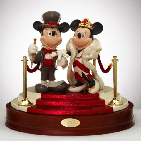 Crystal Mickey & Minnie Swarovski Crystal and gem stones - only 15 made