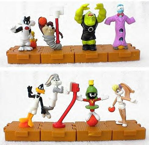 Warner Brothers Space Jam Happy Meal program, hook them all together and they all move