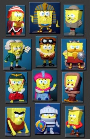 Kids Meal program International Sponge Bob Square Pants toys