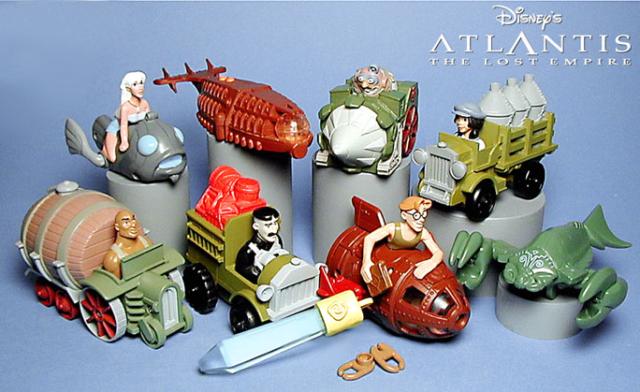 Disneys Atlantis the lost Empire Happy Meal prgram toys