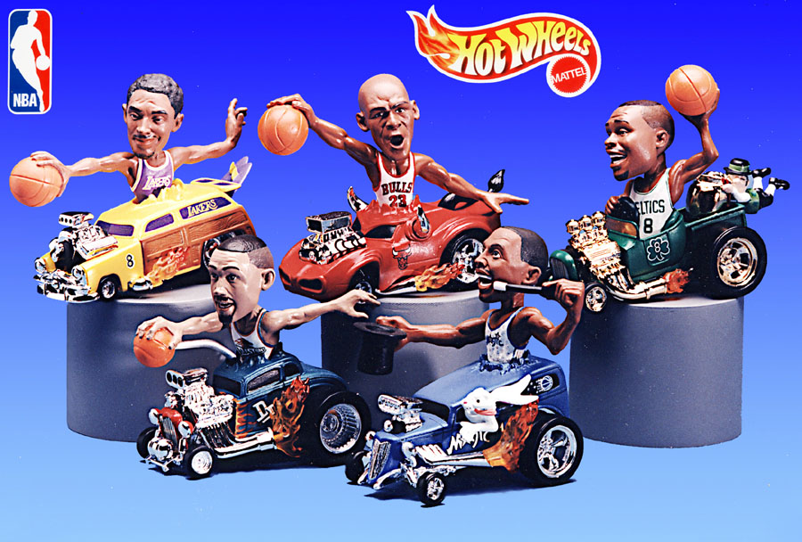 Mattel Hot Wheels NBA Stars in Hot rods Die cast metal Jordan