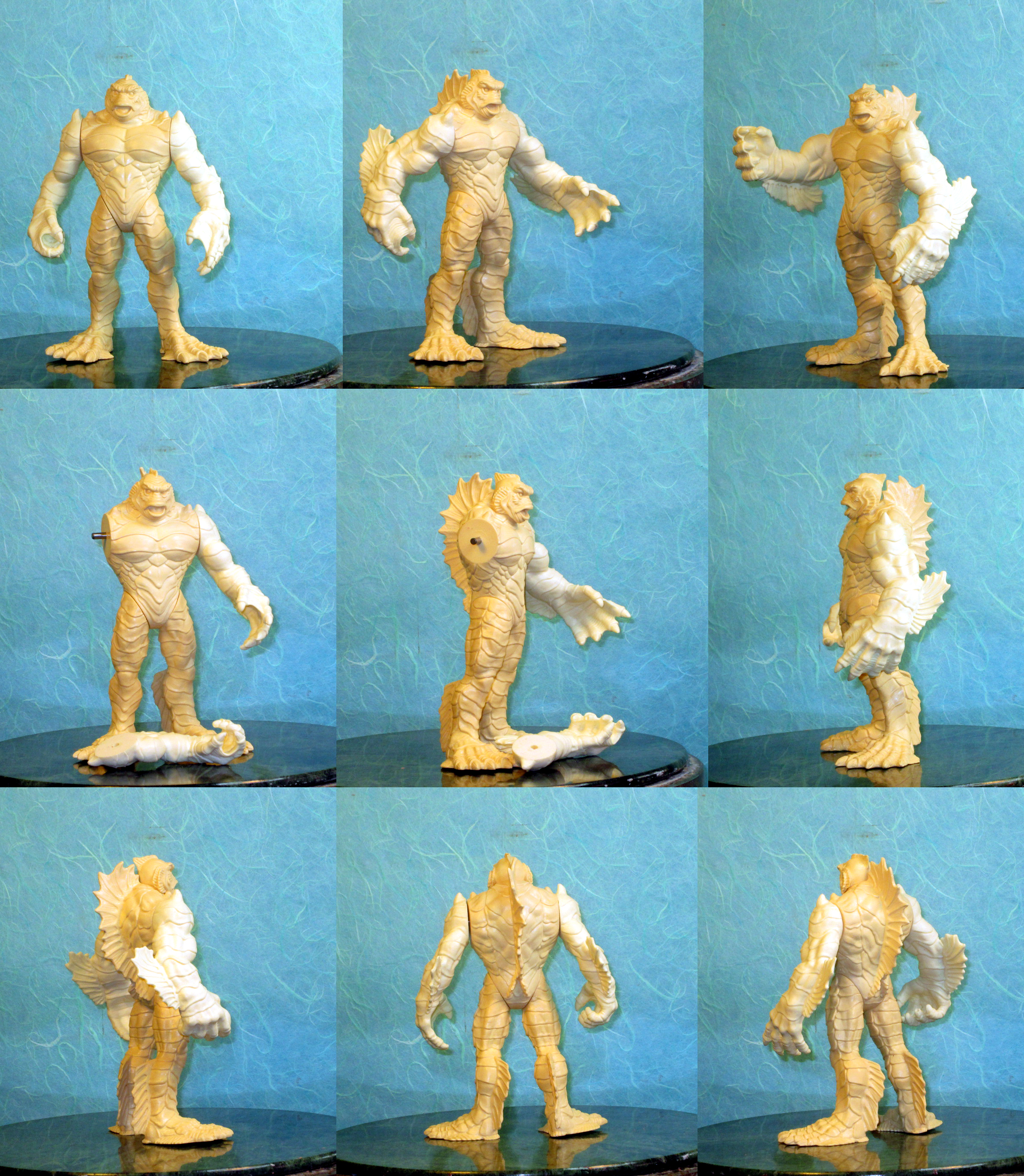 Creature from the Black Lagoon figure for Playmates Monster Force line pattern