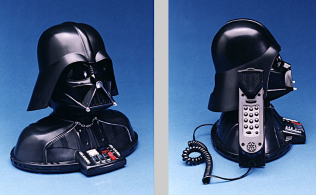 Darth Vader Phone he turns his head and lights up when the call comes in