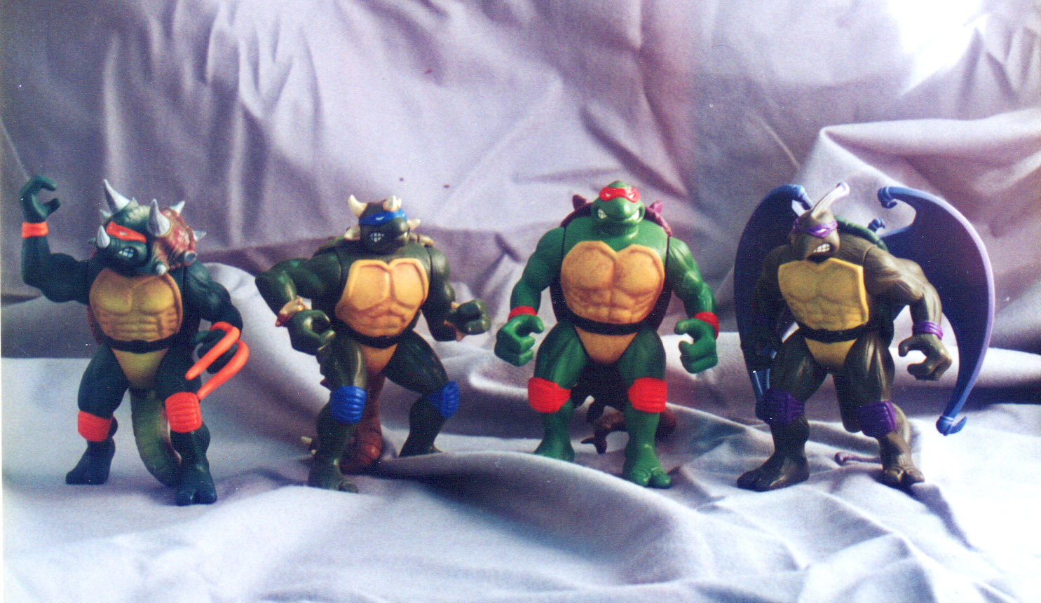 Dino turtles figures for Playmates toys