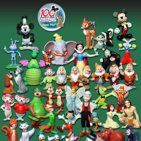 100 years of Disney Happy Meal  - 1 - charactor cascade -