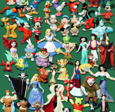 100 years of Disney Happy Meal  - 2 - charactor cascade -