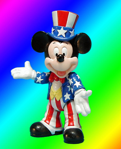 Epcot Center American Mickey Mouse figure