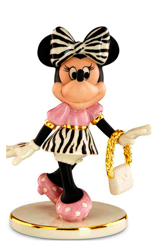 Fashionista Minnie Mouse ,  Lenox Disney fine china figurine