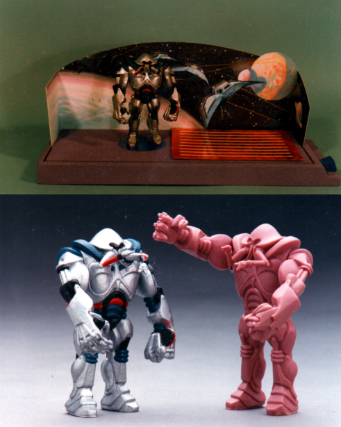 Figure and Playset with wax original sculpture