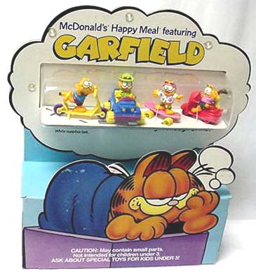 Garfield toys in Display for McDonalds