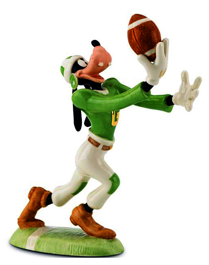 Lenox figure Goofy plays football Disney fine china
