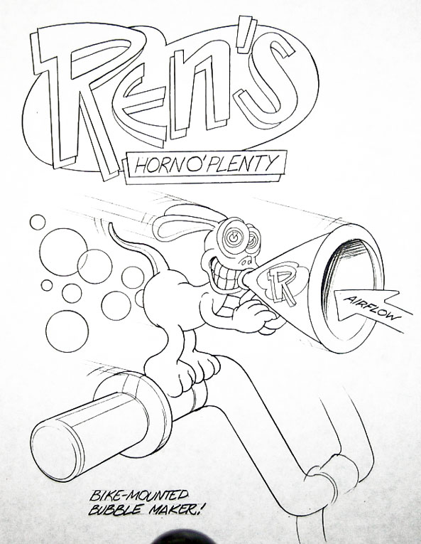 Ren's horn o' plenty - concept for bike bubble maker
