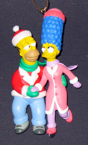 American Greetings Homer Simpson skates with Marge in love