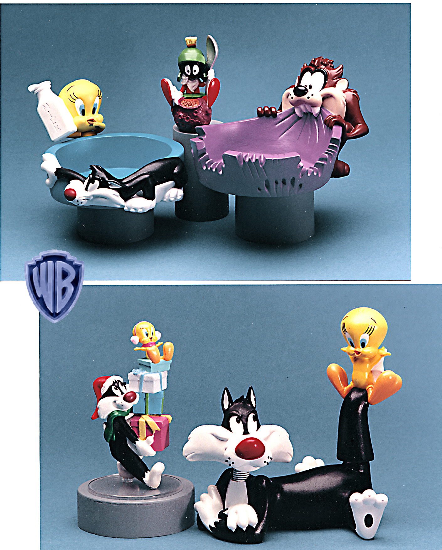 Warner Bros characters, Tweety, Slyvester, Taz various projects