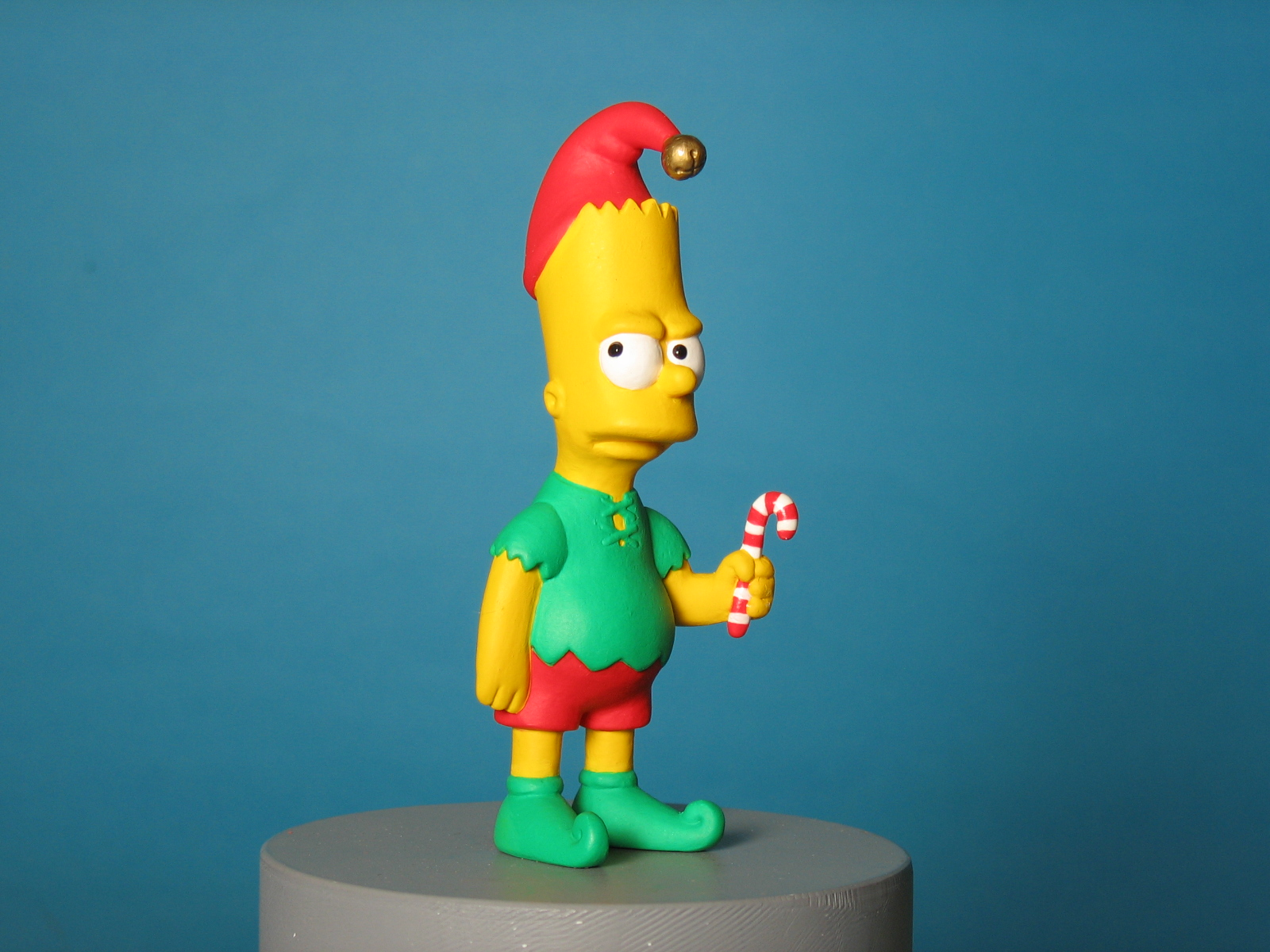 Bart looking angry as elf