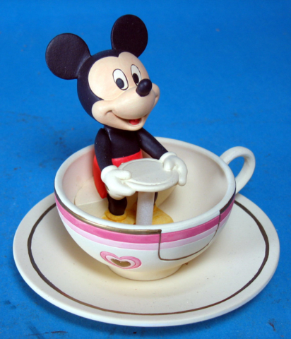 Mickey Mouse on the Tea Cup ride at Disneyland Lenox Ceramics