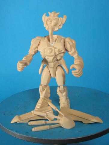 Samari Earthworm Jimunpainted hard copy figure for Playmates -never produced
