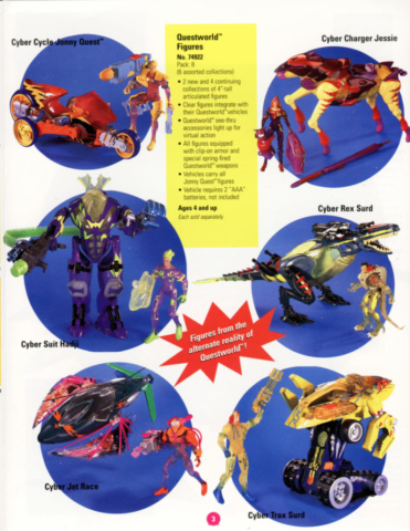 catalog page from Galoob's Cyber Jonny Quest