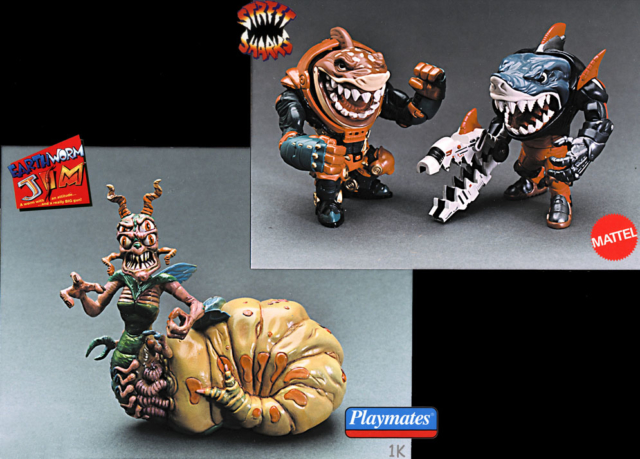 Space Sharks & Queen Slug for a Butt - Mattel and Playmates