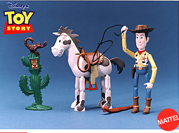 Toy Story figures for Mattel  - Woody and Bullseye