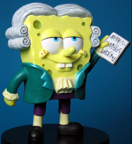 Burger King Kid's Meal Sponge Bob Square Pants as Mozart