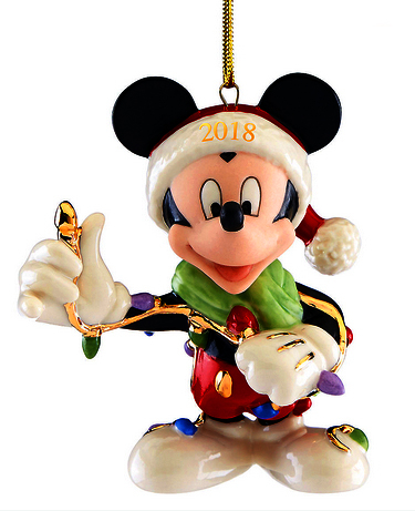 Mickey Mouse tangled up in Christmas Lights for 2018