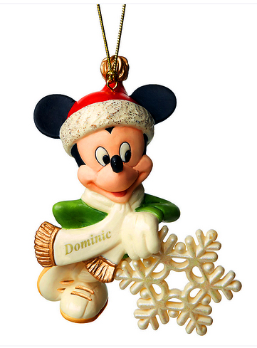 Snowflake Mickey with custom name on his sash