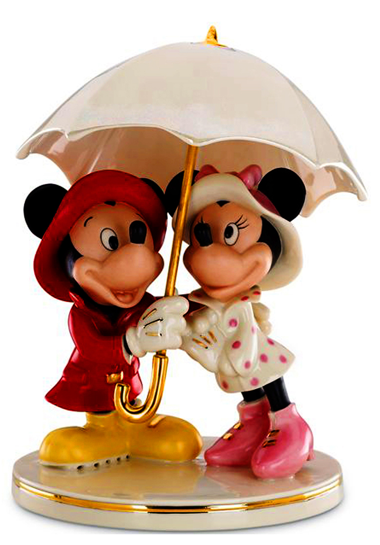 Mickey and Minnie Caught in the Rain - Lenox fine china
