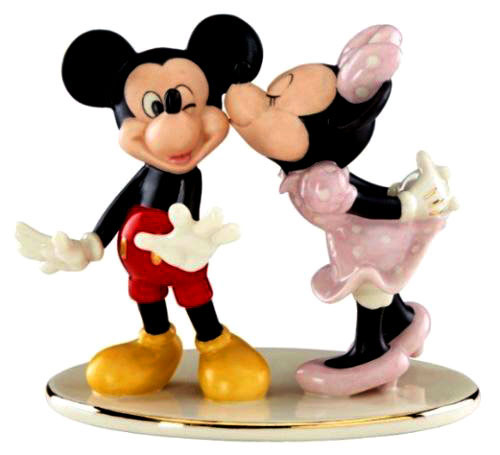 Mickey gets a kiss - Lenox - for 2018