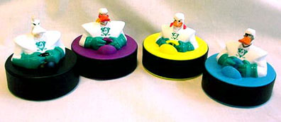 MIghty Ducks on Pucks for McDonads Happy Meal toy program