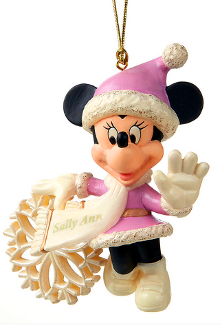 Snowflake Minnie with custom name on her sash
