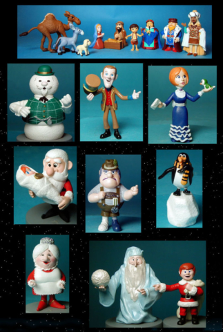 the Story of Santa & Little Drummer Boy for Playing Mantis - vinyl figures