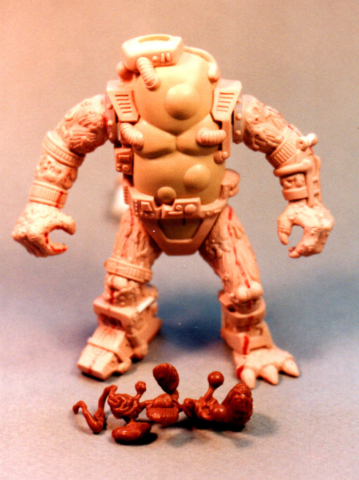 Turtles Mutagen Man - final wax shown with his entrails