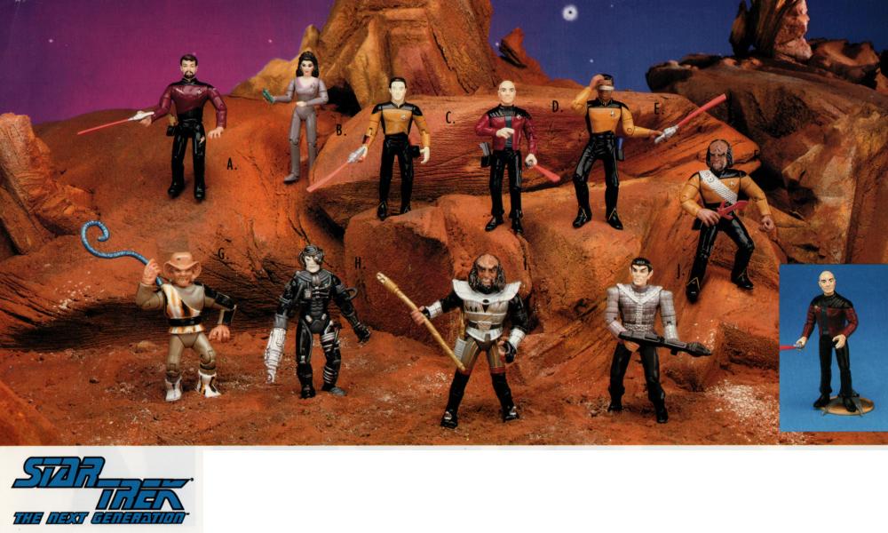 Star Trek Figures for Playmates toys Riker, Troi, Data, Picard, Jordi, Ferengi, Borg, Klingon, Romulan, Worf