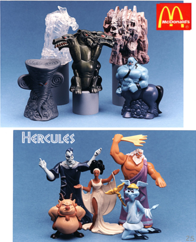 Hercules figures and containers - the figures fit inside the containers