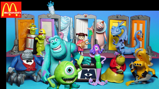 Monsters Inc. Mike, Sully, Nick, Boo, Selma Trash boys not produced