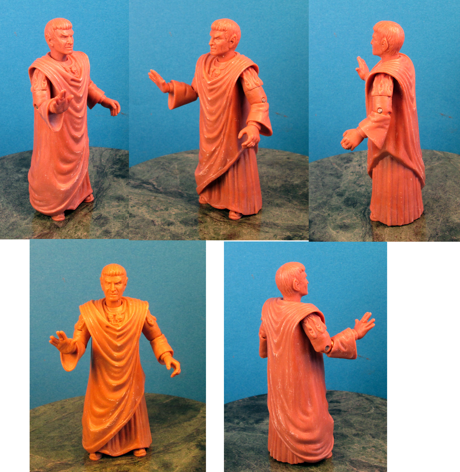 Final wax for Sarik Star Trek figure for Playmates toys