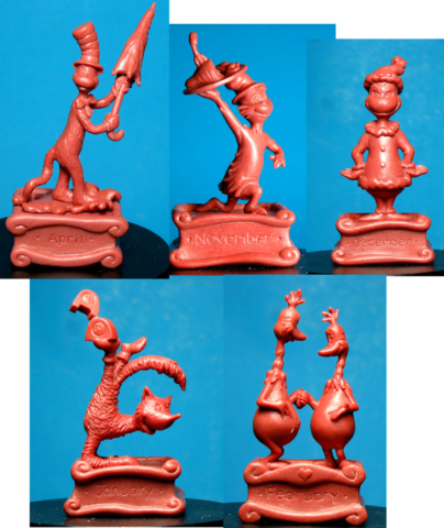 Dr. Seuss waxes- very small resin figures for Lenox