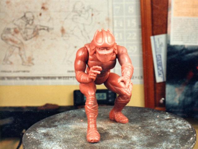 the final wax sculpture for Shredder figure TMNTview 2