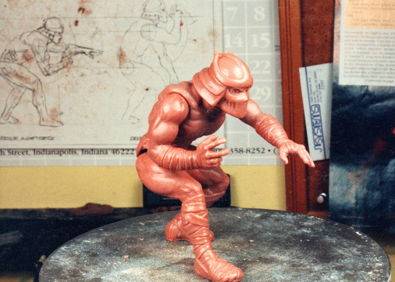 the final wax sculpture for Shredder figure TMNT