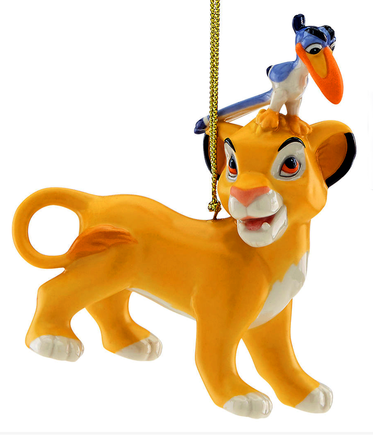 Simba and Zazu ornament for Lenox