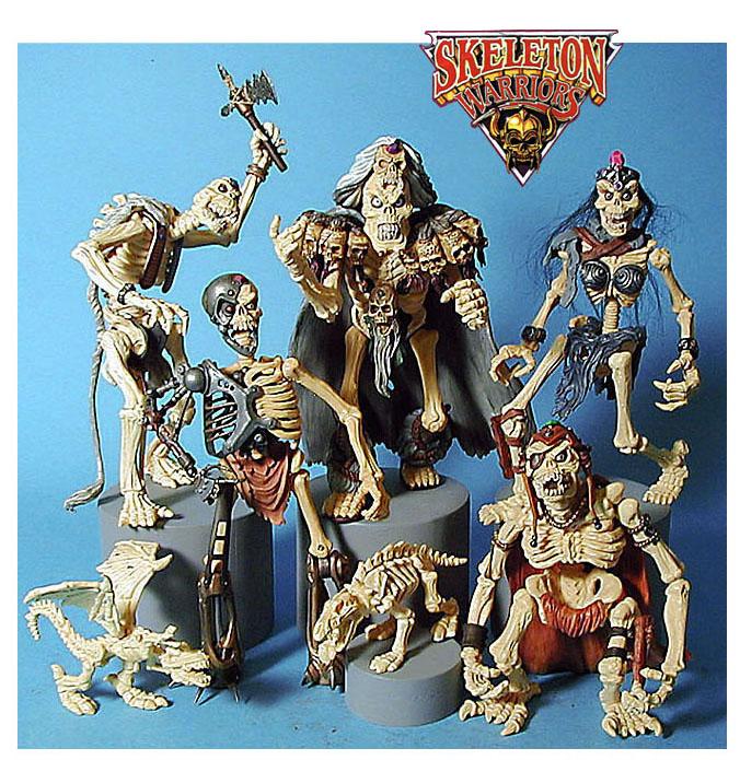 Skeleton warriors - with new figure upper left