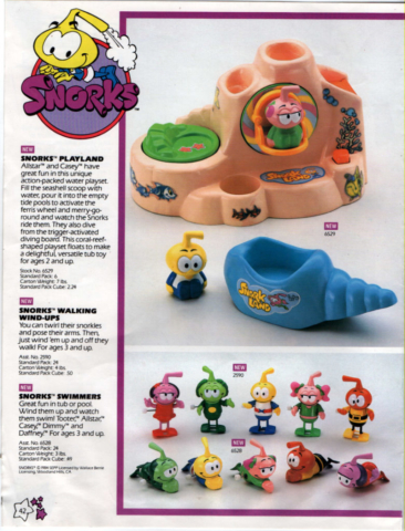 Snorks like underwater Smurfs wind up toys, walkers, floater and swimmers