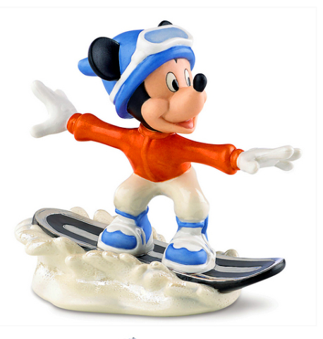 Mickey Mouse Snow Boards Ceramic figure for Lenox