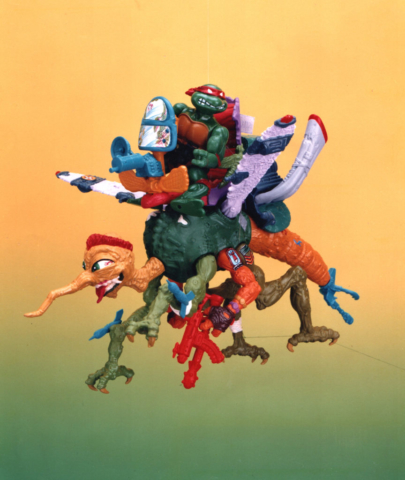 Squeeto TMNT Playmates toys - giant moquito ridden by a Teenage Mutant Ninja Turtle